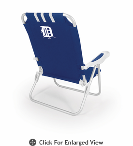 Picnic Time Monaco Beach Chair - Navy Blue Detroit Tigers