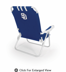 Picnic Time Monaco Beach Chair - Navy Blue San Diego Padres