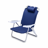 Picnic Time Monaco Beach Chair - Navy Blue Seattle Mariners
