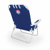 Picnic Time Monaco Beach Chair - Navy Blue Texas Rangers