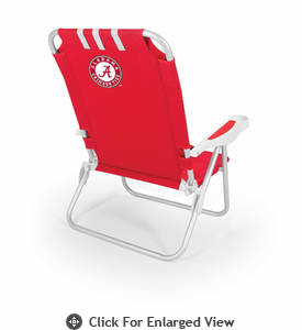 Picnic Time Monaco Beach Chair - Red University of Alabama Crimson Tide