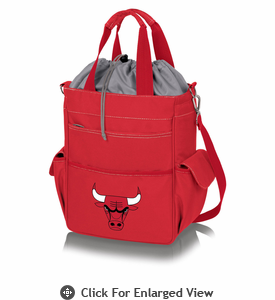 Picnic Time NBA - Activo Cooler Tote Chicago Bulls Red