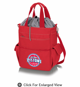 Picnic Time NBA - Activo Cooler Tote  Detroit Pistons Red
