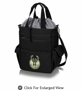 Picnic Time NBA - Activo Cooler Tote  Milwaukee Bucks Black w/ Grey