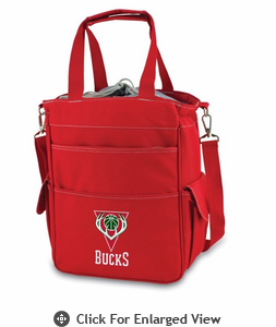 Picnic Time NBA - Activo Cooler Tote  Milwaukee Bucks Red