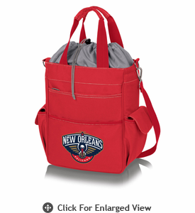 Picnic Time NBA - Activo Cooler Tote  New Orleans Pelicans  Red