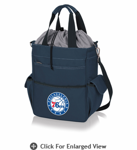 Picnic Time NBA - Activo Cooler Tote Philadelphia 76ers Navy Blue