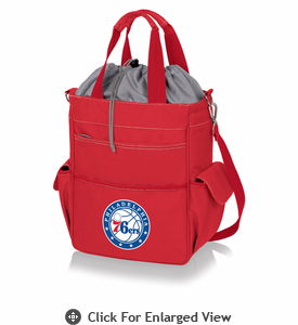 Picnic Time NBA - Activo Cooler Tote  Philadelphia 76ers Red