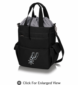 Picnic Time NBA - Activo Cooler Tote San Antonio Spurs Black w/ Grey