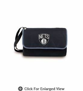 Picnic Time NBA - Black Blanket Tote Brooklyn Nets