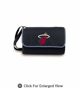 Picnic Time NBA - Black Blanket Tote Miami Heat