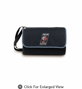 Picnic Time NBA - Black Blanket Tote Portland Trailblazers