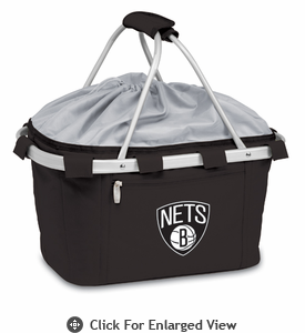 Picnic Time NBA - Black Metro Basket Brooklyn Nets