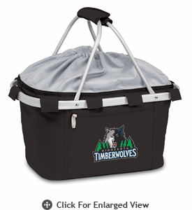 Picnic Time NBA - Black Metro Basket Minnesota Timberwolves