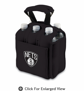 Picnic Time NBA - Black Six Pack Carrier Brooklyn Nets