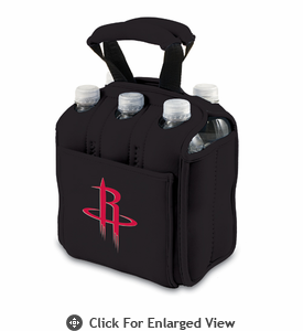 Picnic Time NBA - Black Six Pack Carrier Houston Rockets