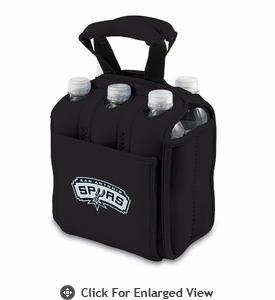 Picnic Time NBA - Black Six Pack Carrier San Antonio Spurs