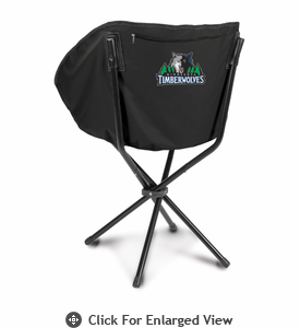 Picnic Time NBA - Black Sling Chair Minnesota Timberwolves