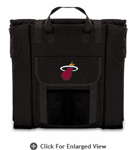 Picnic Time NBA - Black Stadium Seat Miami Heat