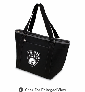 Picnic Time NBA - Black Topanga Cooler Tote Brooklyn Nets