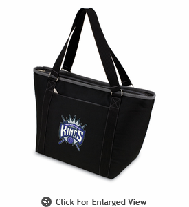 Picnic Time NBA - Black Topanga Cooler Tote Sacramento Kings