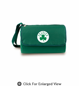 Picnic Time NBA - Hunter Green Blanket Tote Boston Celtics
