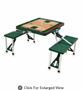 Picnic Time NBA - Hunter Green Picnic Table Sport Milwaukee Bucks