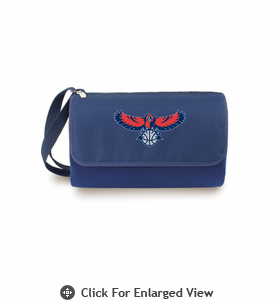 Picnic Time NBA - Navy Blue Blanket Tote Atlanta Hawks
