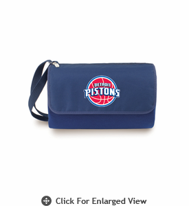 Picnic Time NBA - Navy Blue Blanket Tote Detroit Pistons