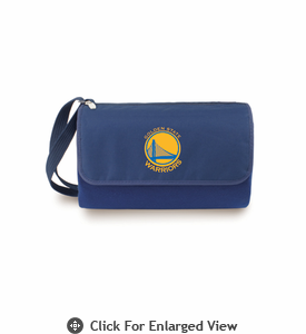 Picnic Time NBA - Navy Blue Blanket Tote Golden State Warriors