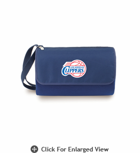 Picnic Time NBA - Navy Blue Blanket Tote Los Angeles Clippers