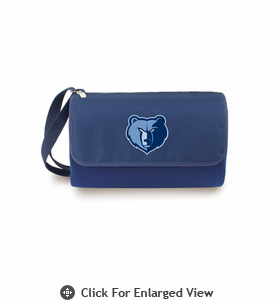 Picnic Time NBA - Navy Blue Blanket Tote Memphis Grizzlies