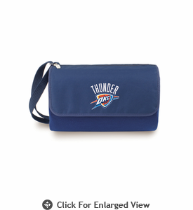 Picnic Time NBA - Navy Blue Blanket Tote Oklahoma City Thunder