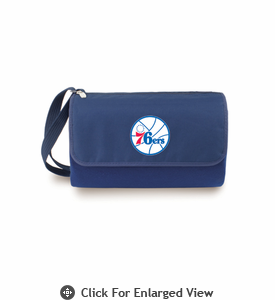 Picnic Time NBA - Navy Blue Blanket Tote Philadelphia 76ers