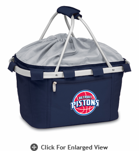 Picnic Time NBA - Navy Blue Metro Basket Detroit Pistons