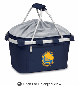 Picnic Time NBA - Navy Blue Metro Basket Golden State Warriors