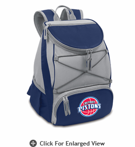 Picnic Time NBA - Navy Blue PTX Backpack Cooler Detroit Pistons
