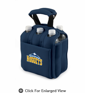 Picnic Time NBA - Navy Blue Six Pack Carrier Denver Nuggets