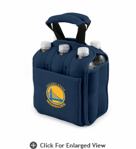 Picnic Time NBA - Navy Blue Six Pack Carrier Golden State Warriors