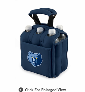 Picnic Time NBA - Navy Blue Six Pack Carrier Memphis Grizzlies
