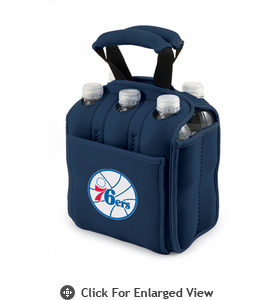 Picnic Time NBA - Navy Blue Six Pack Carrier Philadelphia 76ers