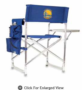 Picnic Time NBA - Navy Blue Sports Chair Golden State Warriors