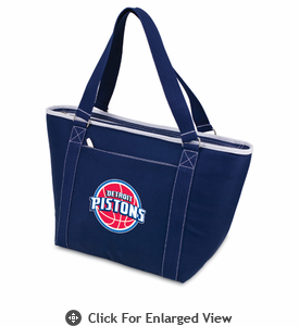 Picnic Time NBA - Navy Blue Topanga Cooler Tote Detroit Pistons