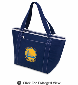 Picnic Time NBA - Navy Blue Topanga Cooler Tote Golden State Warriors