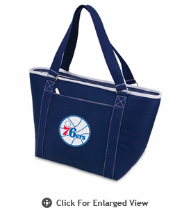 Picnic Time NBA - Navy Blue Topanga Cooler Tote Philadelphia 76ers
