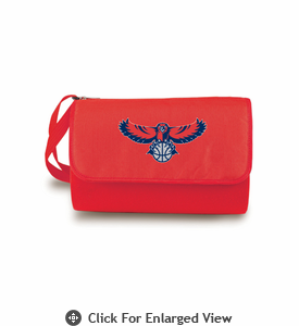Picnic Time NBA - Red Blanket Tote Atlanta Hawks