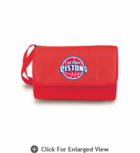 Picnic Time NBA - Red Blanket Tote Detroit Pistons