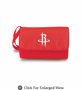 Picnic Time NBA - Red Blanket Tote Houston Rockets