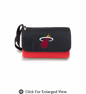 Picnic Time NBA - Red Blanket Tote Miami Heat