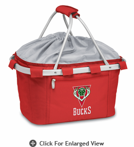 Picnic Time NBA - Red Metro Basket Milwaukee Bucks